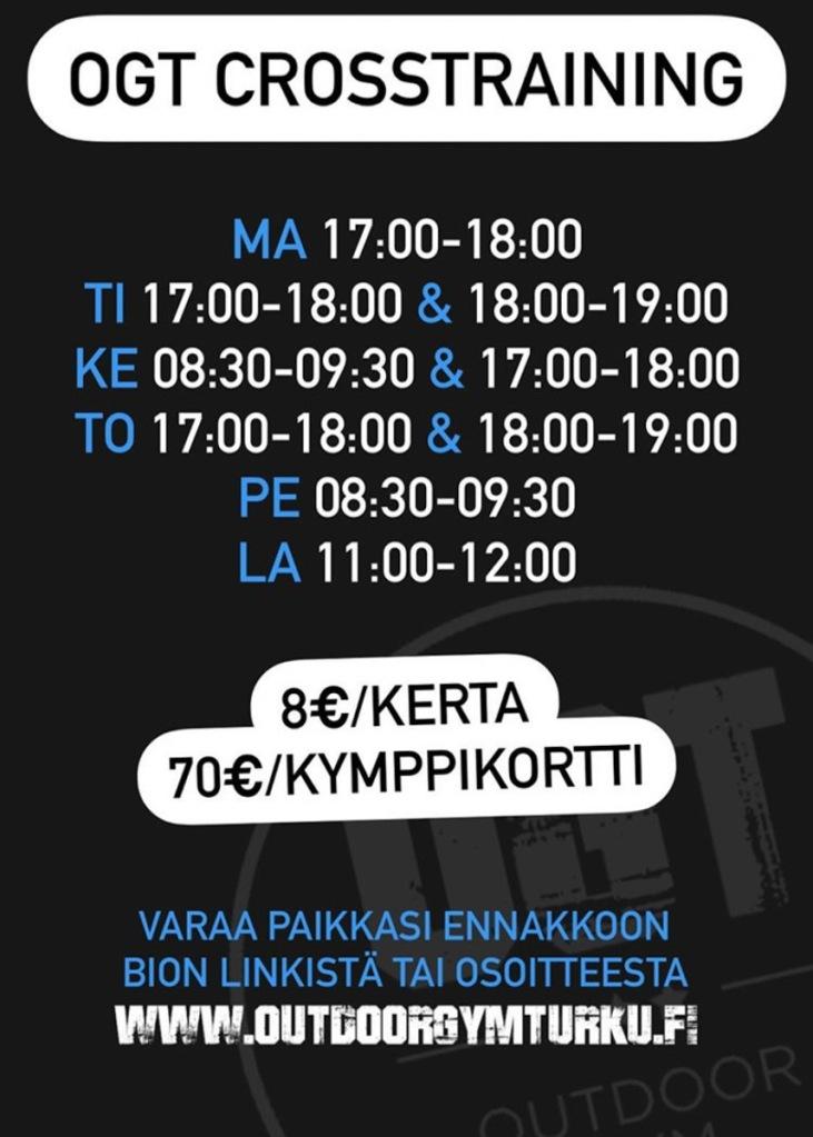 OGT Crosstraining aikataulu