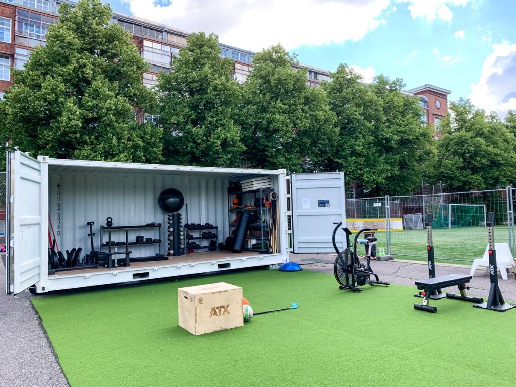 Ulkokuntosali kontti Outdoor Gym Turku