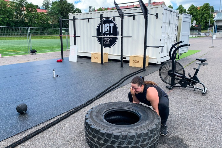 Ulkotreenit Outdoor Gym Turku ulkokuntosalilla